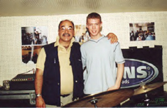 Peter Erskine and Luke in 2001